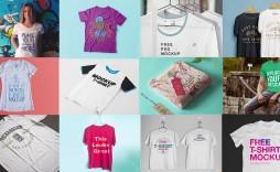 008 Stunning T Shirt Template Psd Example  Design Mockup Free White Collar