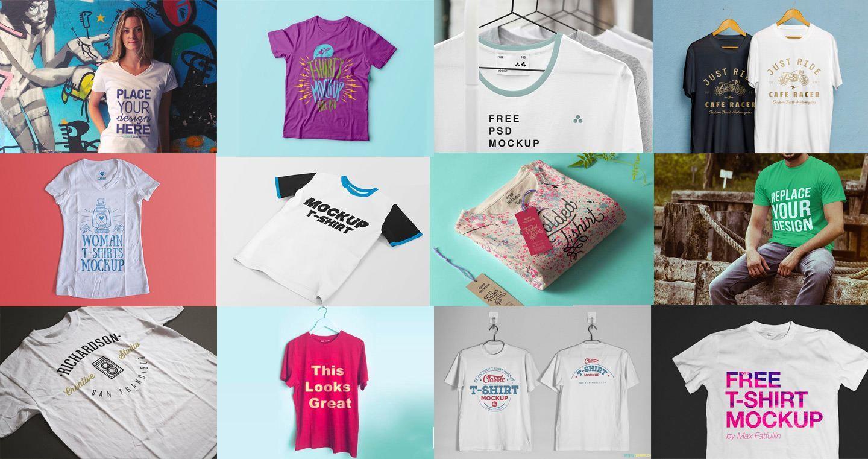 008 Stunning T Shirt Template Psd Example  Design Mockup Free White CollarFull