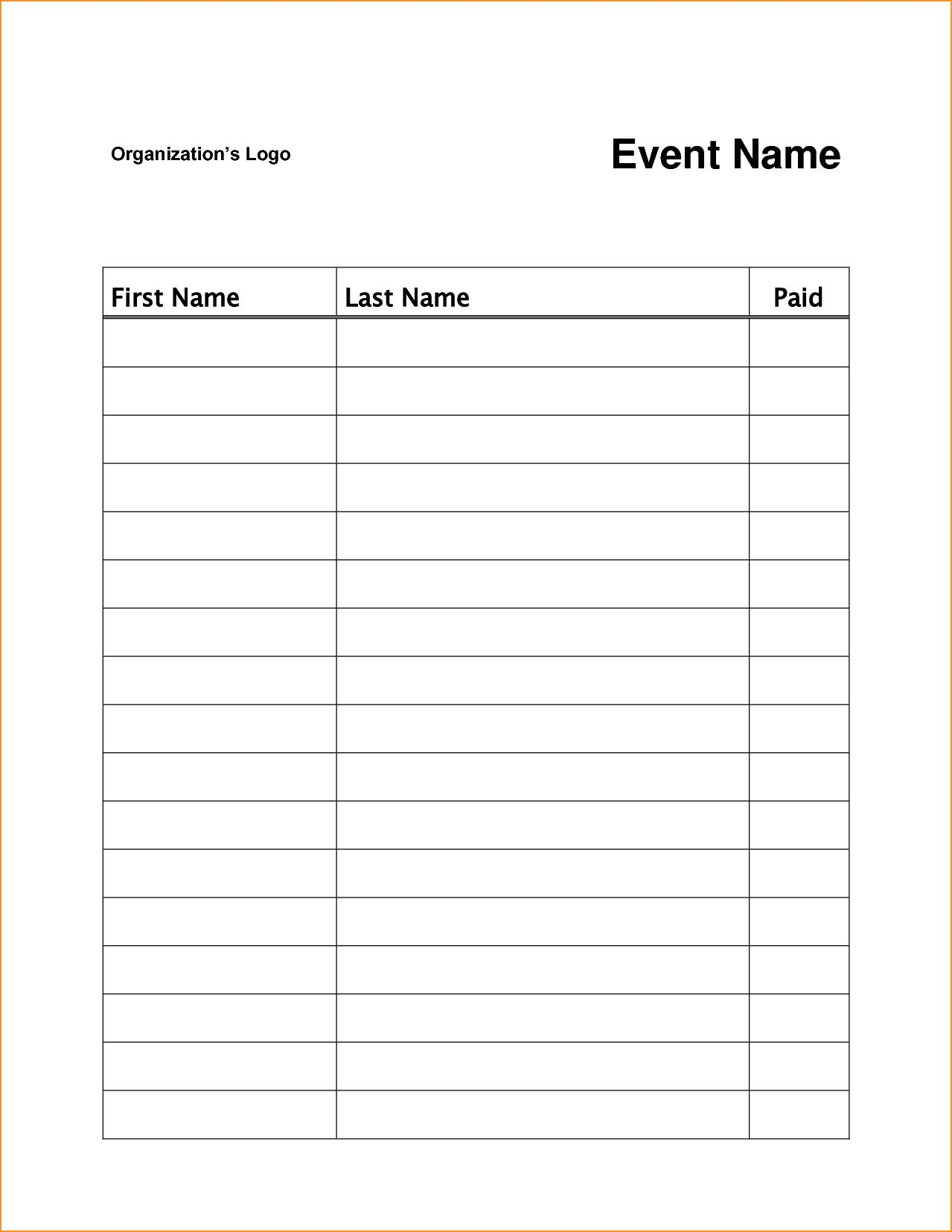 008 Stunning Template For Sign Up Sheet Highest Quality  Visitor In Excel Download OnFull