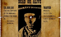 008 Stunning Wanted Poster Template Microsoft Word High Resolution  Old West Western