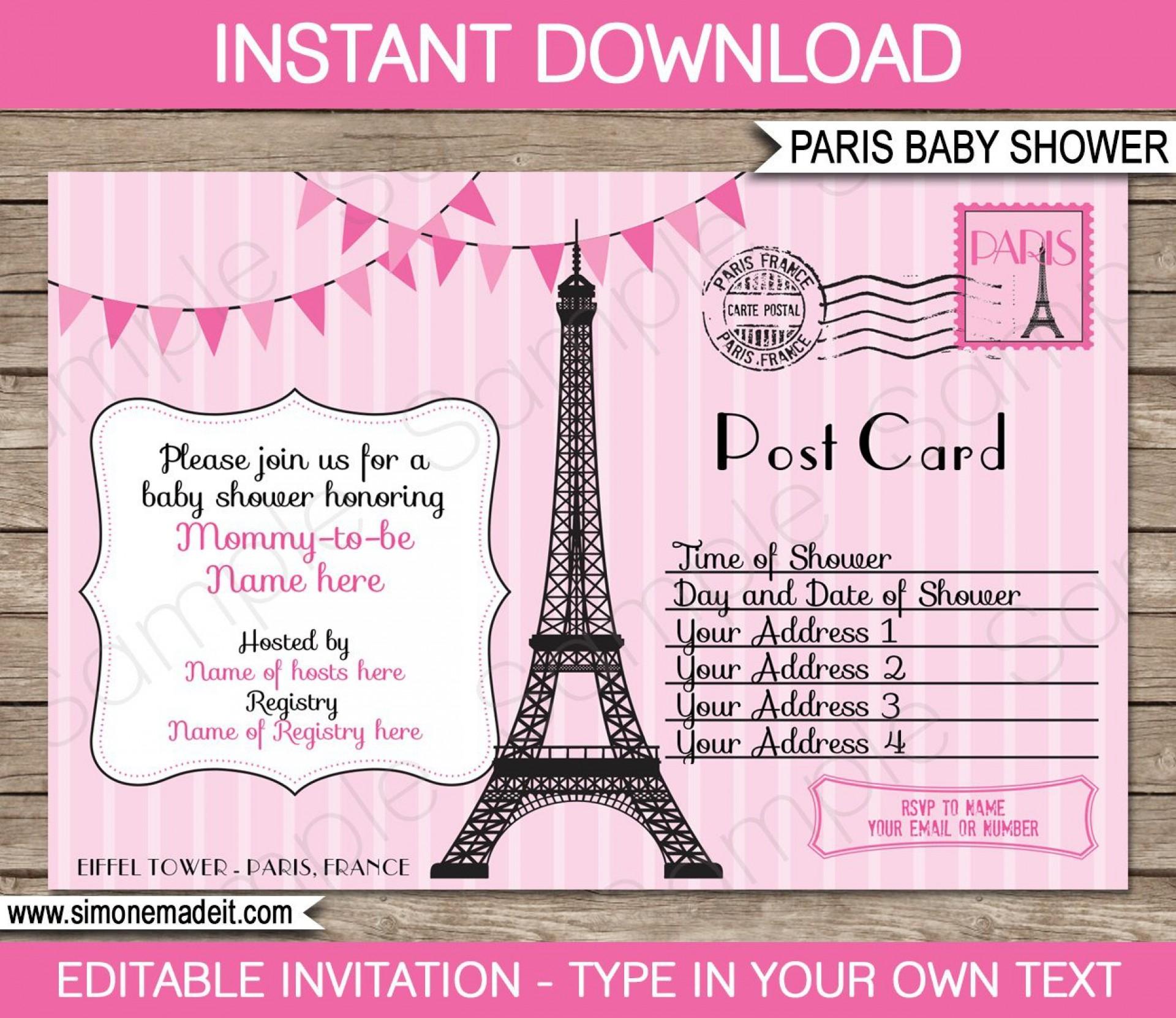 008 Stupendou Baby Shower Invitation Template Editable High Definition  Free Surprise In Gujarati Twin1920