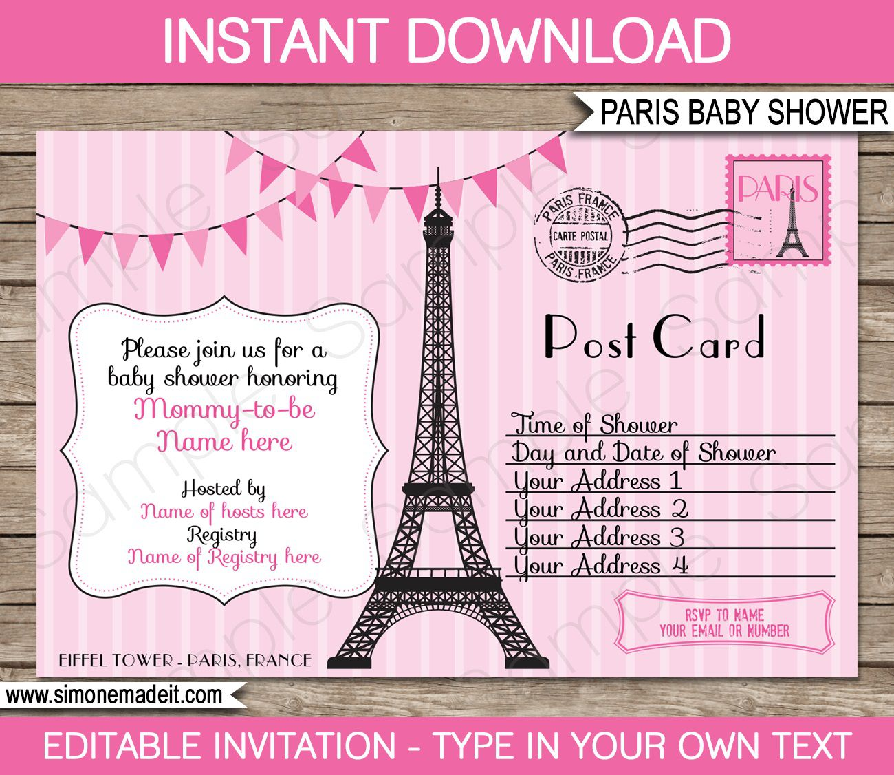 008 Stupendou Baby Shower Invitation Template Editable High Definition  Free Surprise In Gujarati TwinFull