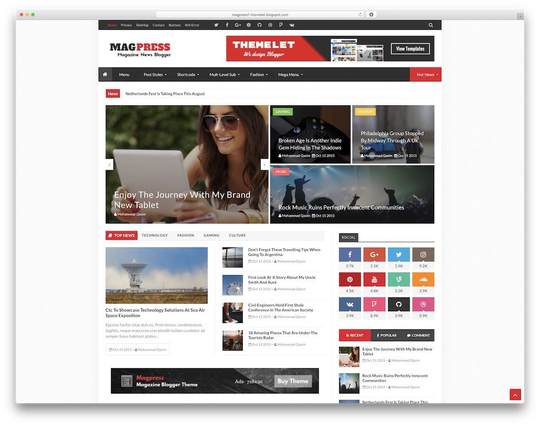 008 Stupendou Best Free Responsive Blogger Template 2015 Example Full