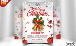 008 Stupendou Christma Flyer Template Free Example  Party Invitation Psd Download