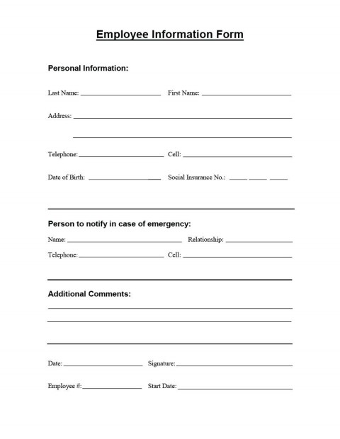 008 Stupendou Employee Personnel File Template Idea  Uk Excel Form480