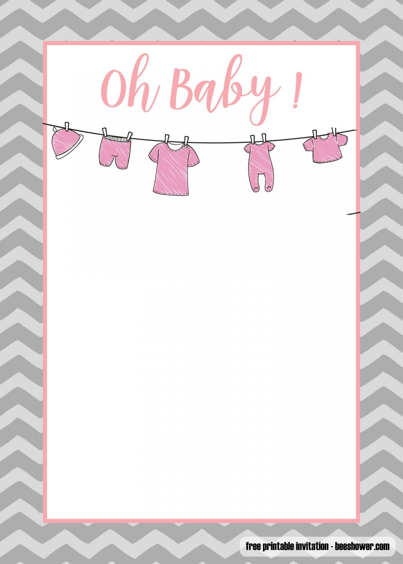 008 Stupendou Free Printable Baby Onesie Template Sample  Girl Card1400