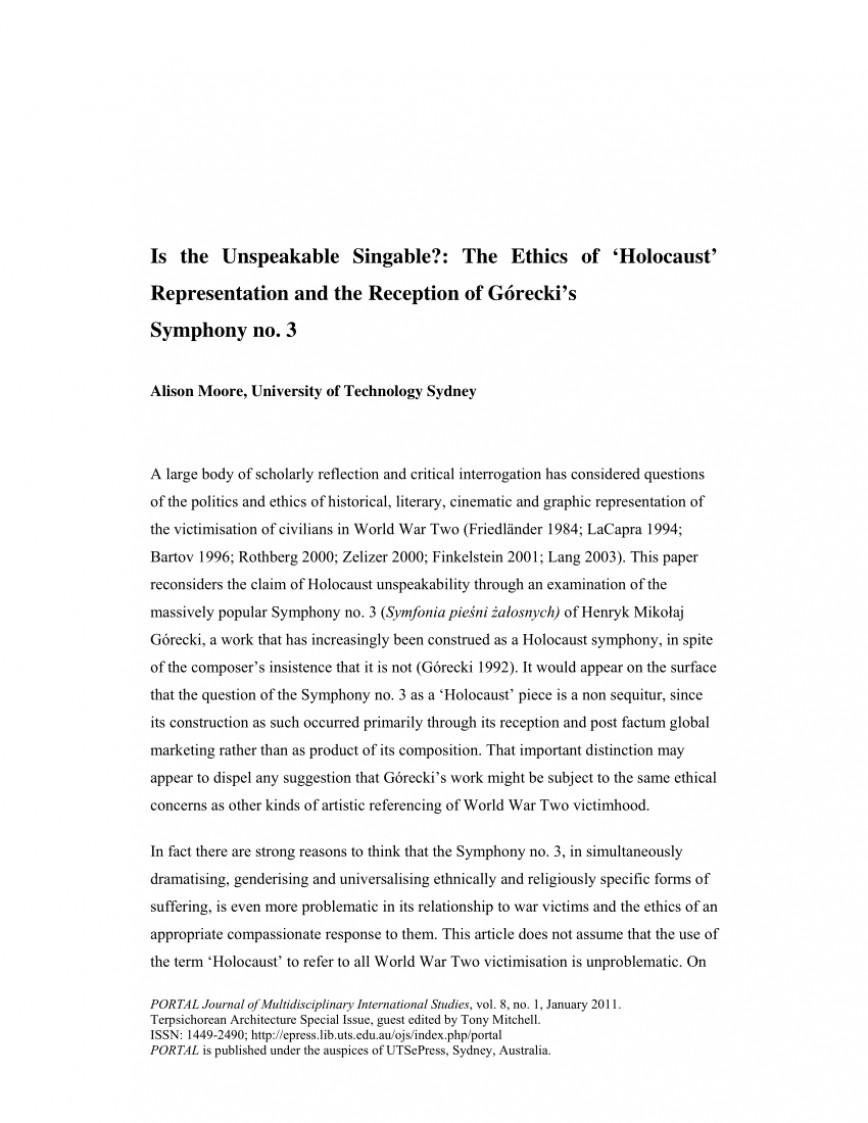 008 Stupendou Holocaust Essay Example  Thesi Hook Contest 2020868