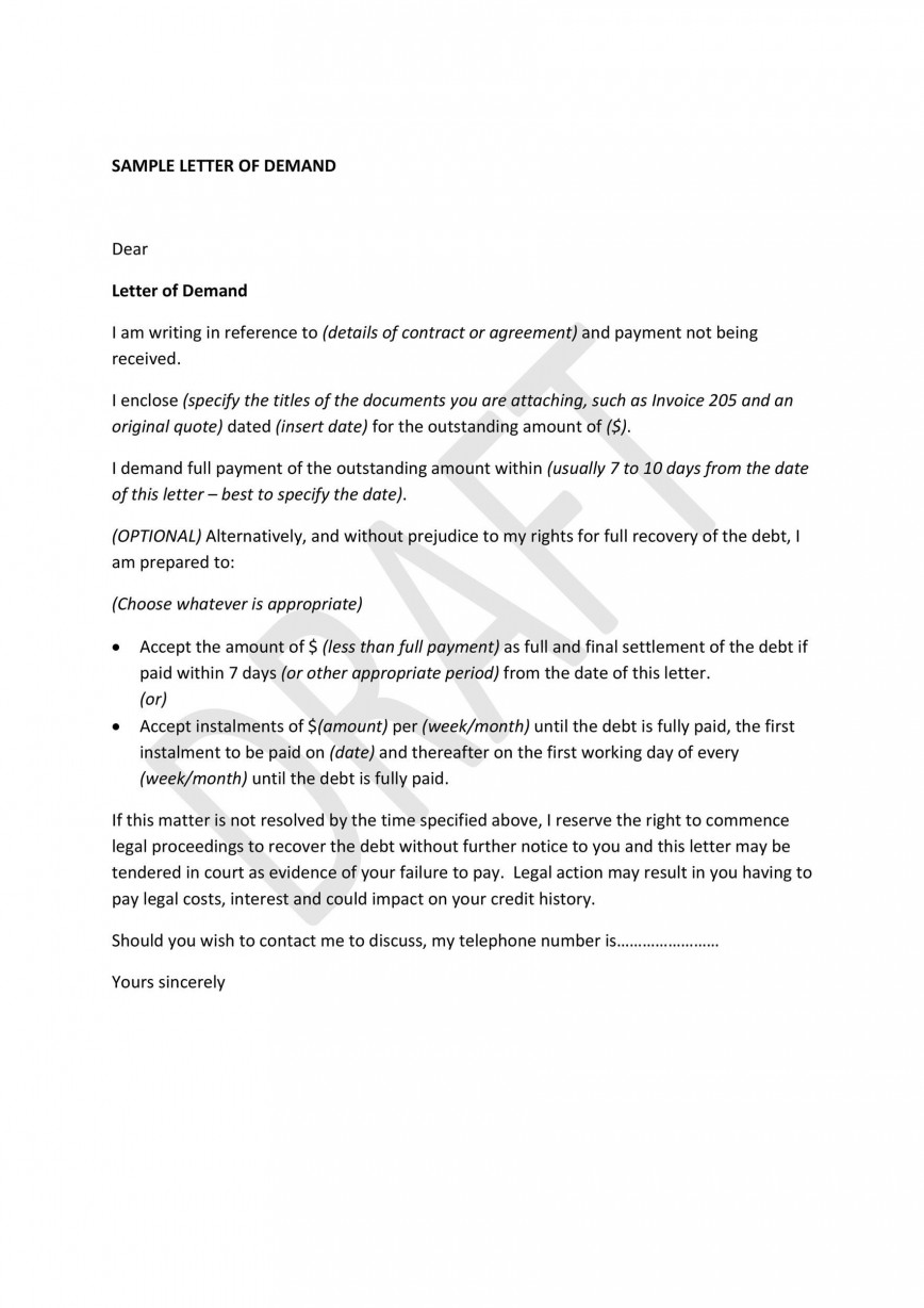008 Stupendou Payment Demand Letter Template Free Inspiration  Final For