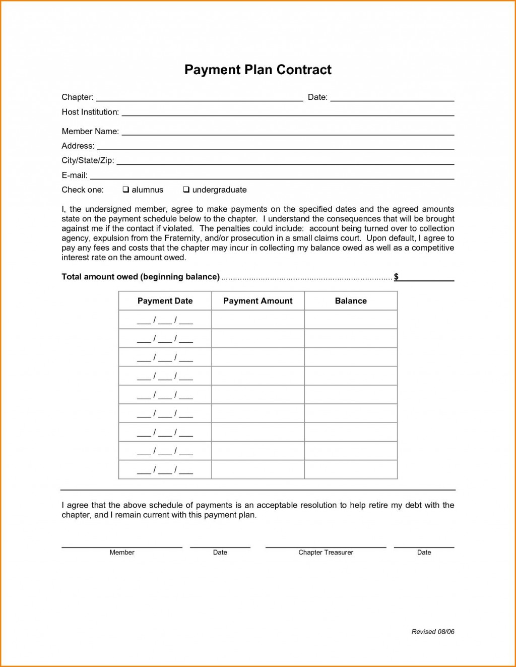 008 Stupendou Payment Plan Agreement Template High Def  FreeLarge