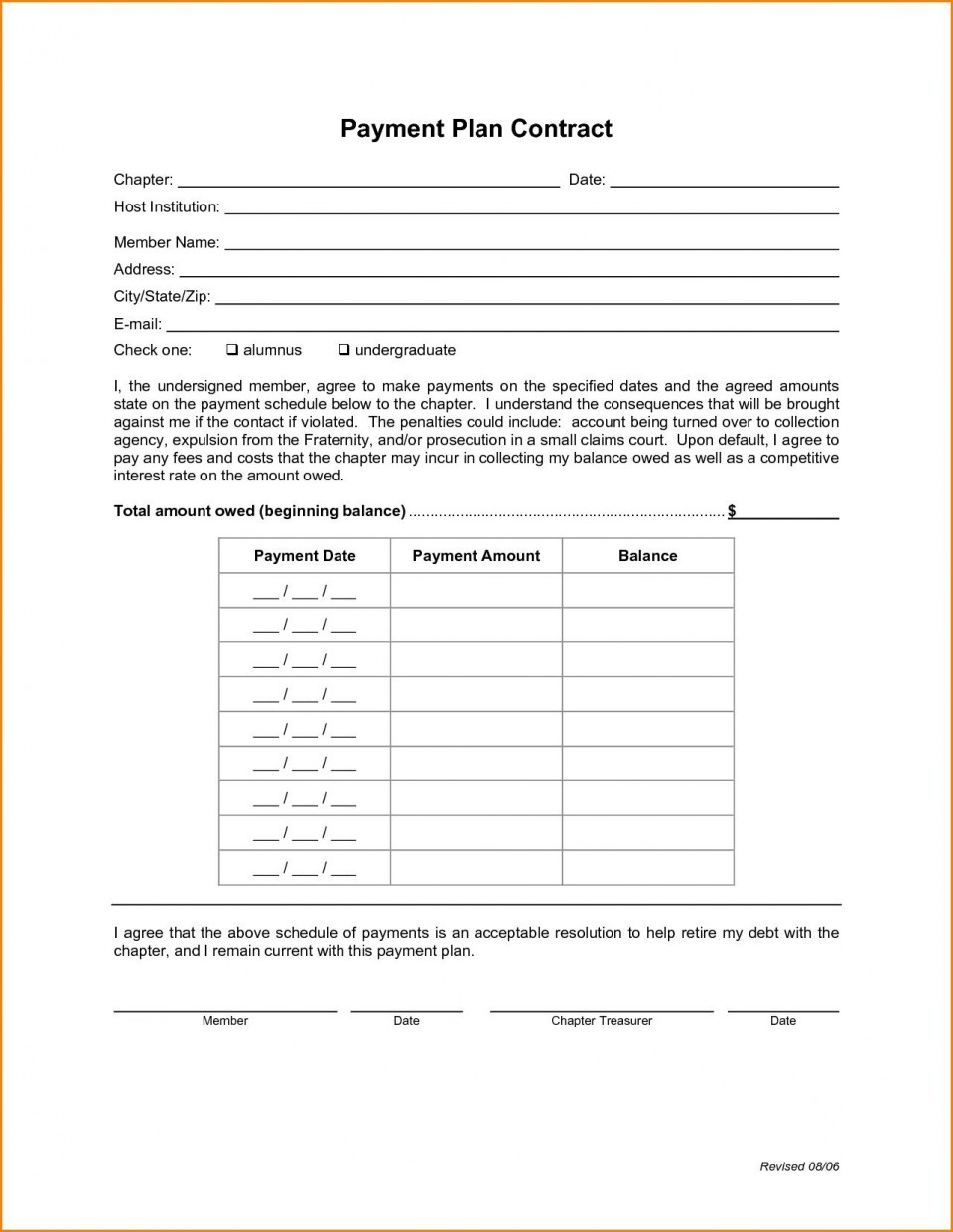 008 Stupendou Payment Plan Agreement Template High Def  Free960