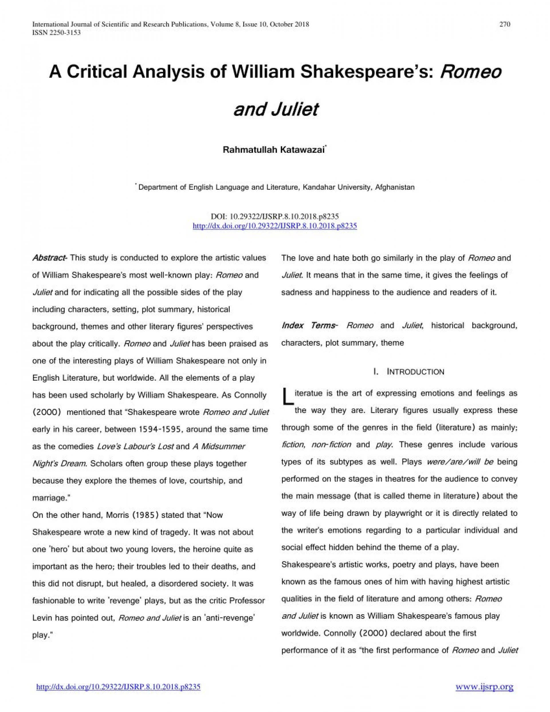 008 Stupendou Romeo And Juliet Essay Example  Who I Responsible For Juliet' Death Introduction Hook Question Pdf1920