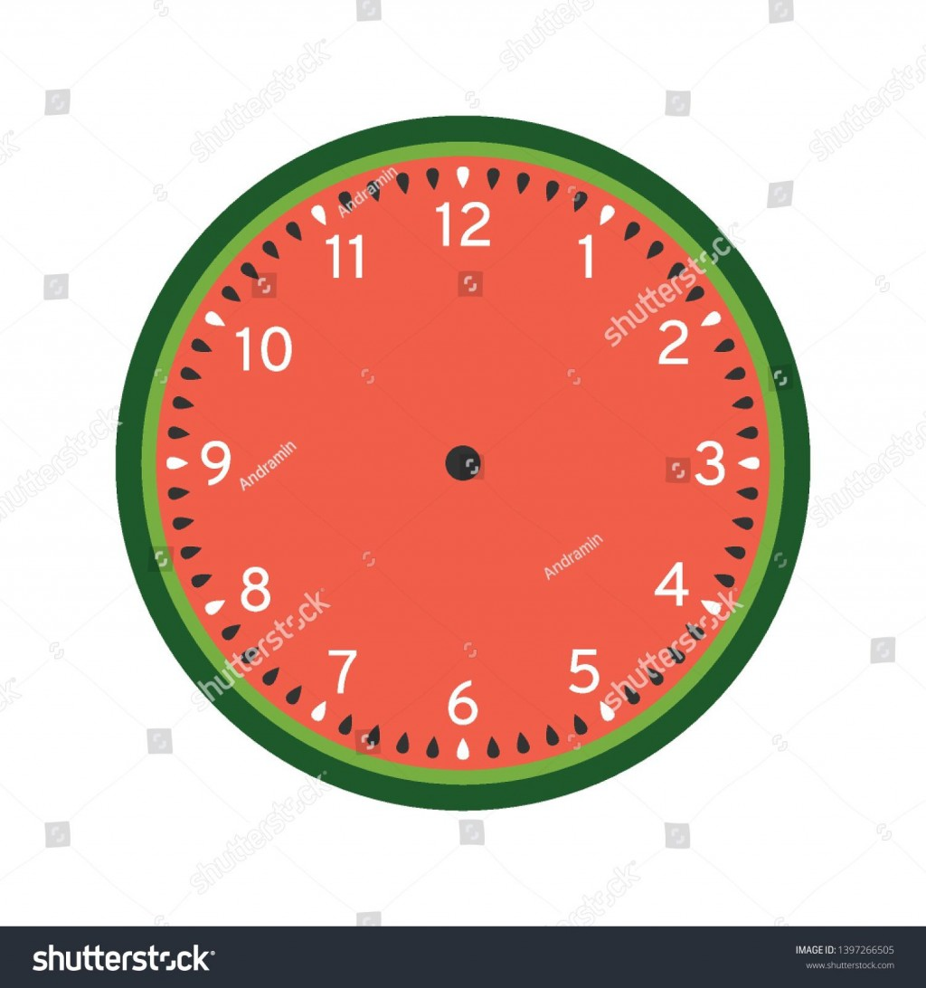 008 Surprising Customizable Clock Face Template Idea Large