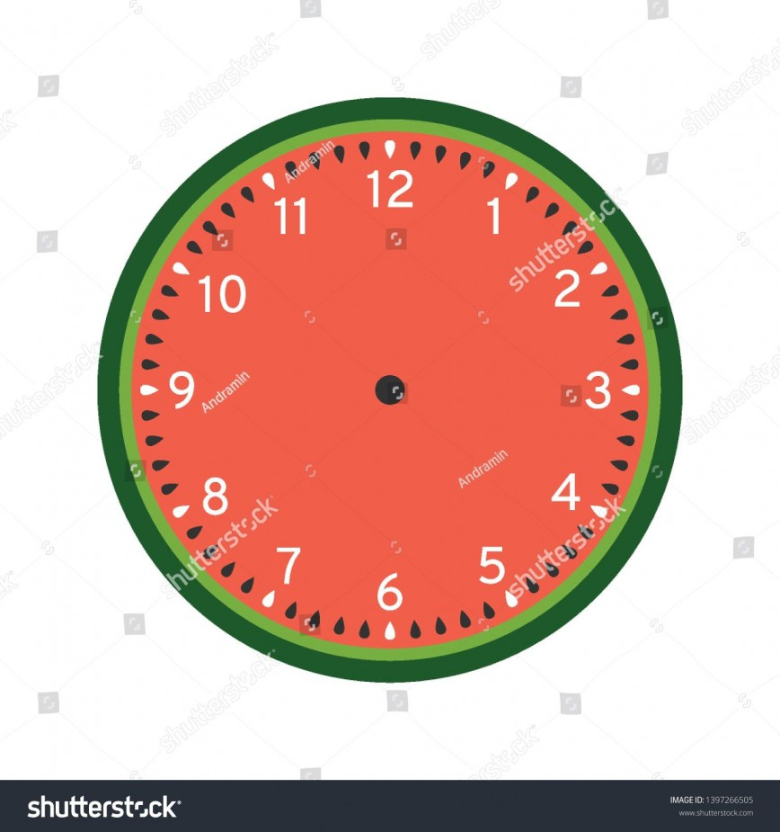 008 Surprising Customizable Clock Face Template Idea