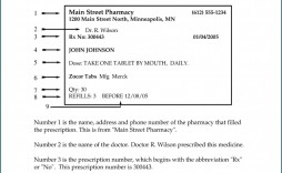 008 Surprising Fake Prescription Bottle Label Template Image