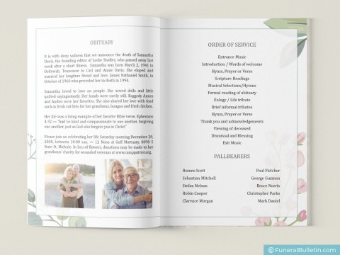 008 Surprising Free Celebration Of Life Brochure Template Highest Clarity  Flyer480