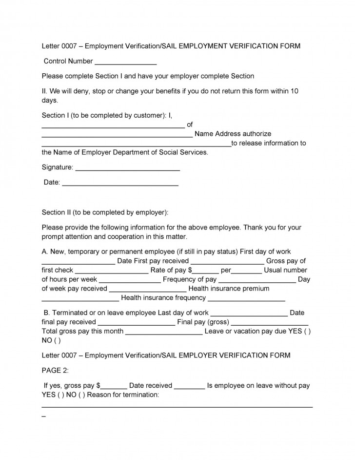 008 Surprising Free Income Verification Form Template High Definition 728