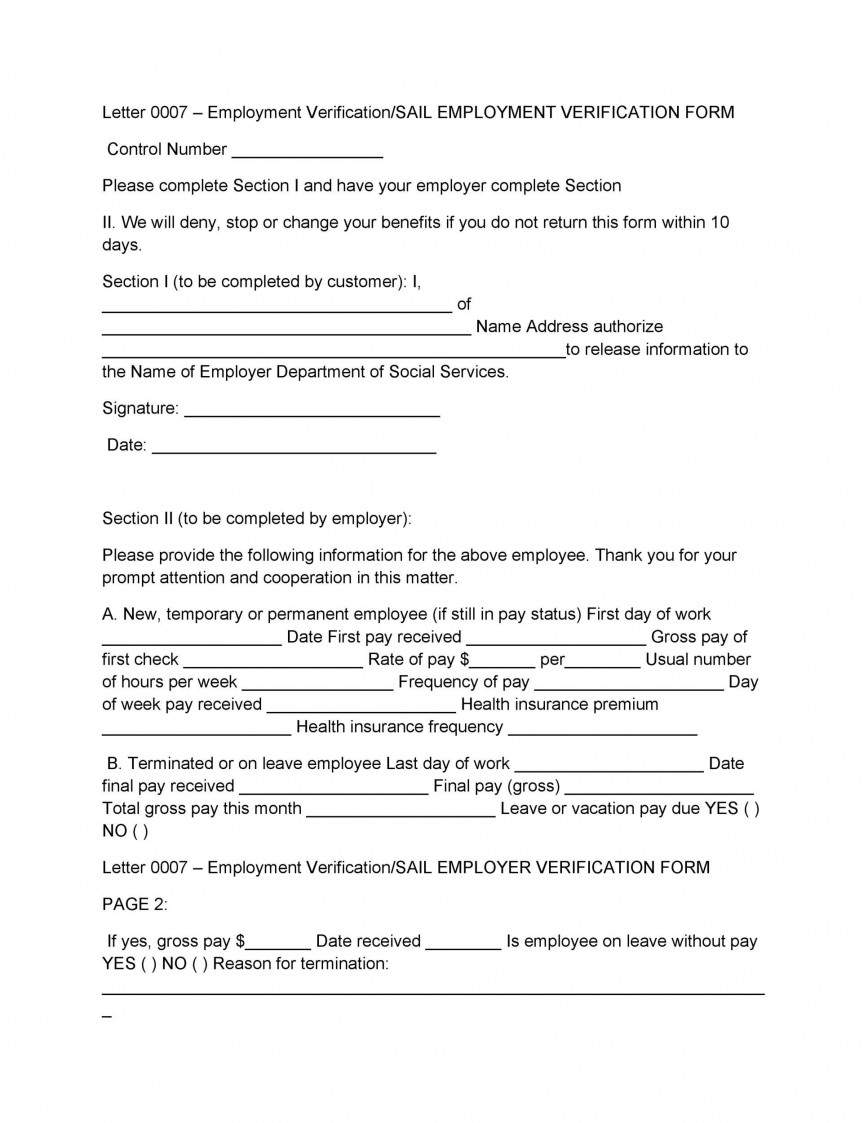 008 Surprising Free Income Verification Form Template High Definition 868