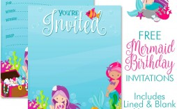 008 Surprising Free Mermaid Invitation Template Example  Baby Shower And Pirate Download