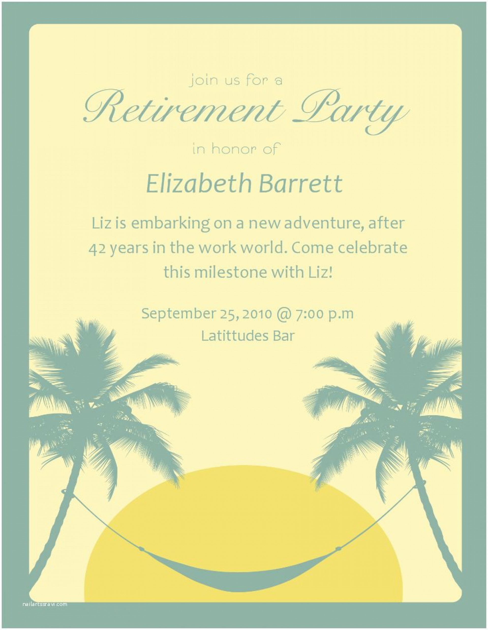008 Surprising Free Retirement Invitation Template Image  Templates Microsoft Word Party Flyer1920