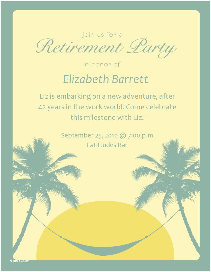008 Surprising Free Retirement Invitation Template Image  Templates Microsoft Word Party FlyerFull