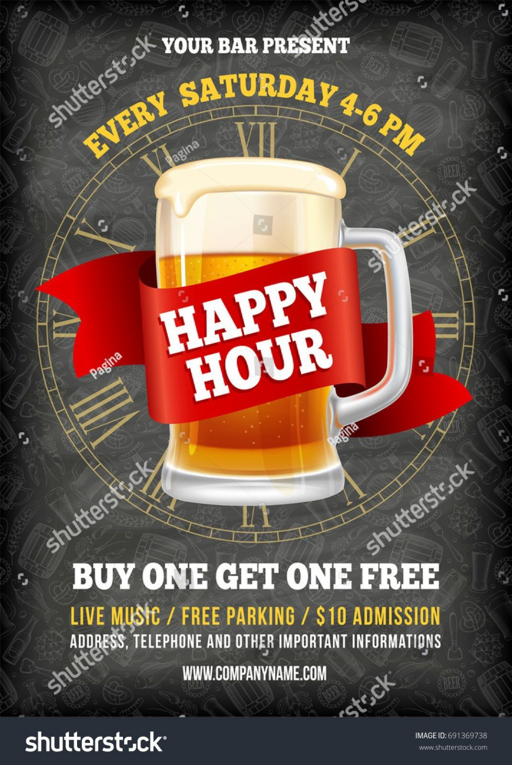 008 Surprising Happy Hour Invitation Template Image  Templates Free Word FarewellLarge