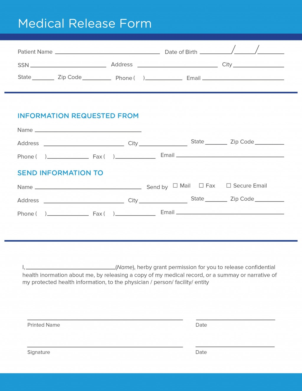 008 Surprising Medical Release Form Template High Def  Free Consent Uk For MinorLarge