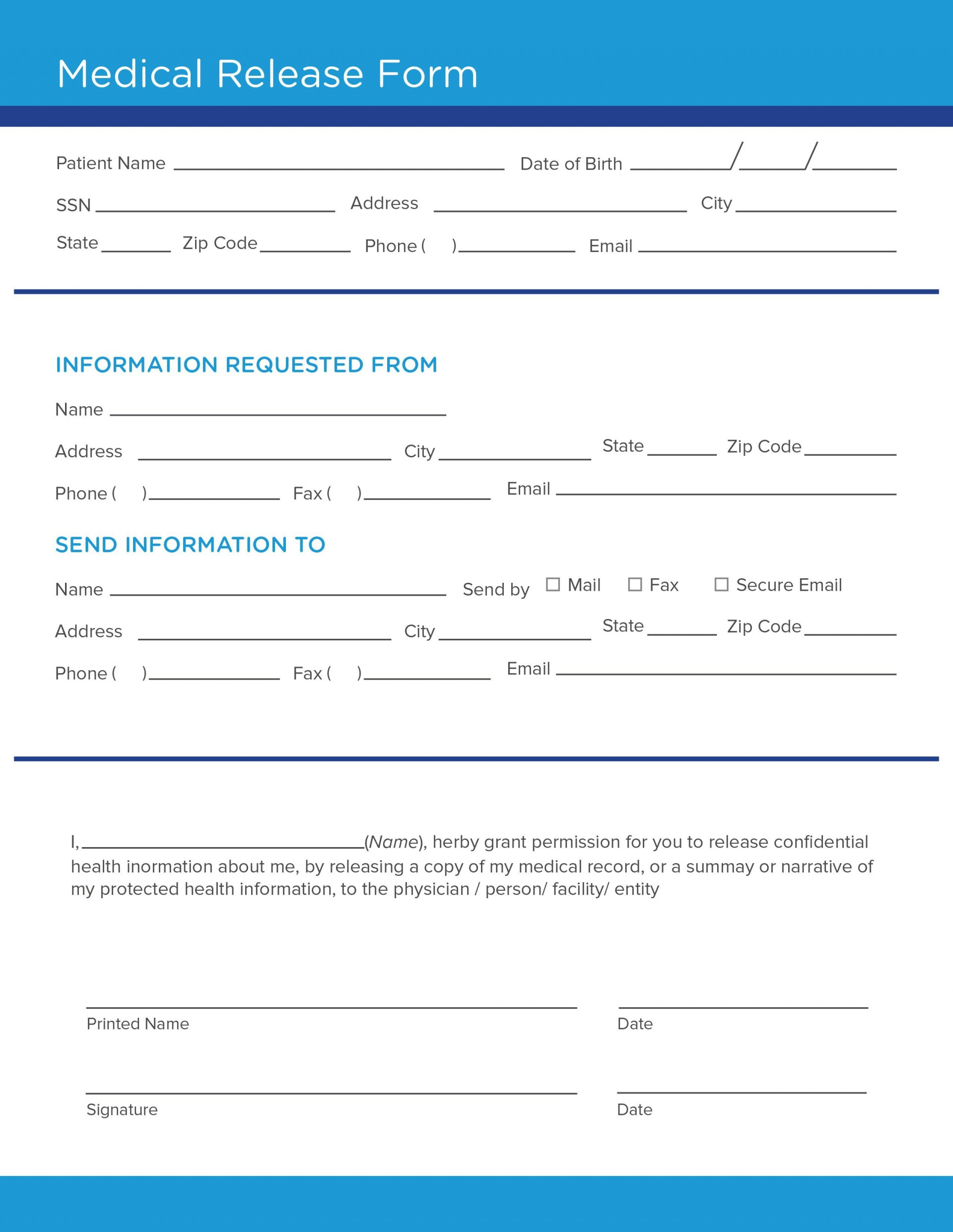 008 Surprising Medical Release Form Template High Def  Free Consent Uk For Minor1920