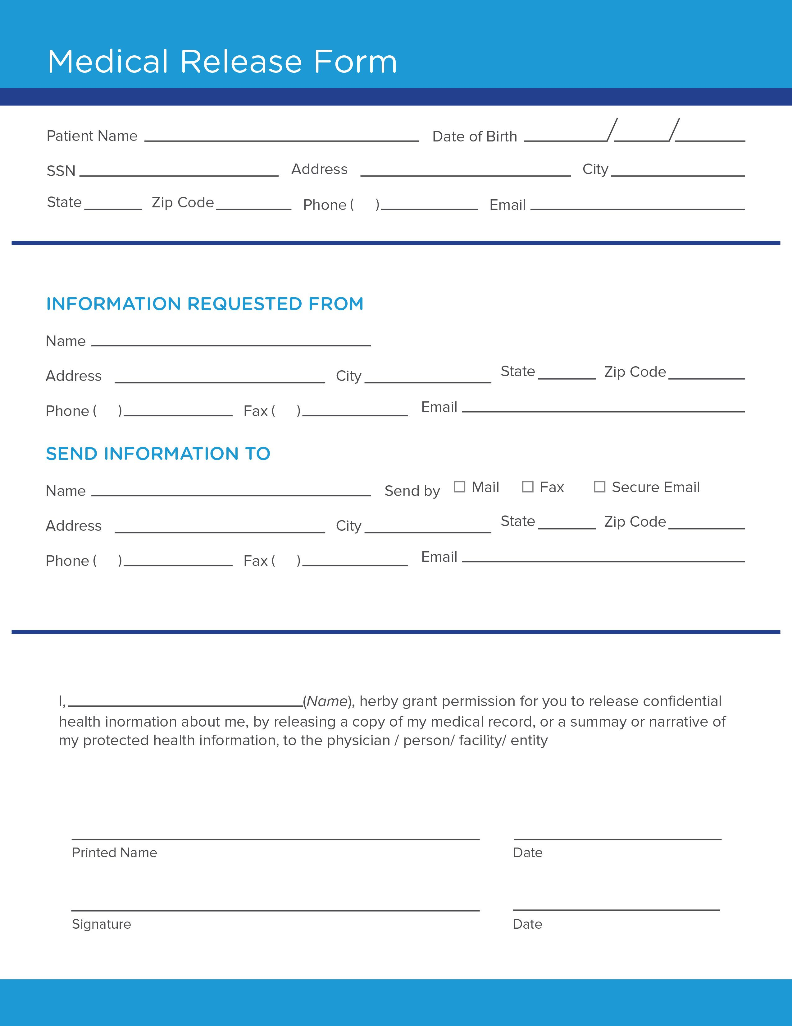 008 Surprising Medical Release Form Template High Def  Free Consent Uk For MinorFull