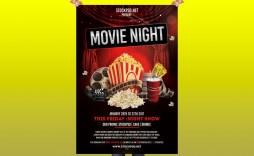 008 Surprising Movie Night Flyer Template Image  Editable Psd Free