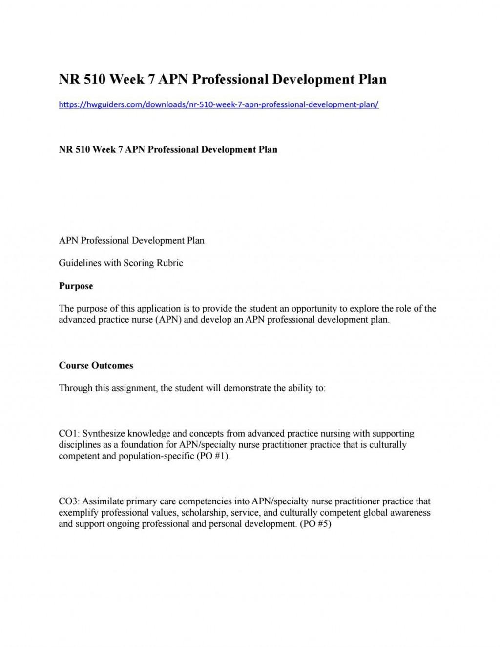 008 Surprising Professional Development Plan Template For Nurse Idea  Nurses Sample Goal ExampleLarge