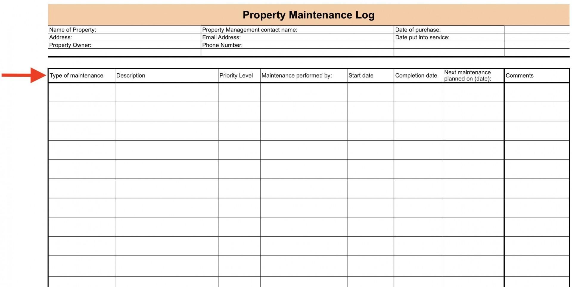 008 Surprising Property Management Maintenance Checklist Template Sample  Free1920