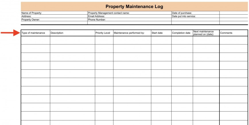 008 Surprising Property Management Maintenance Checklist Template Sample  Free Commercial