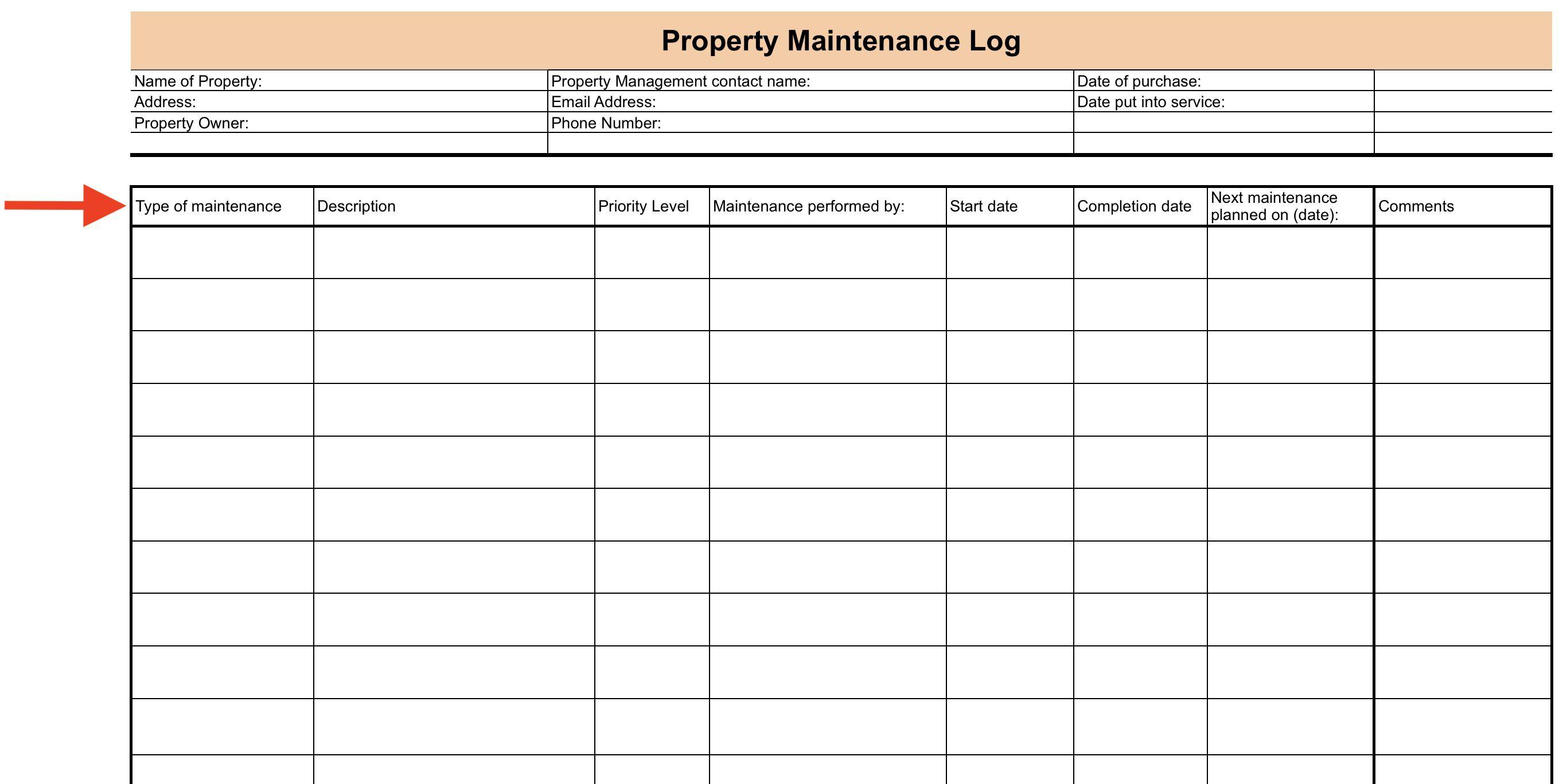 008 Surprising Property Management Maintenance Checklist Template Sample  FreeFull