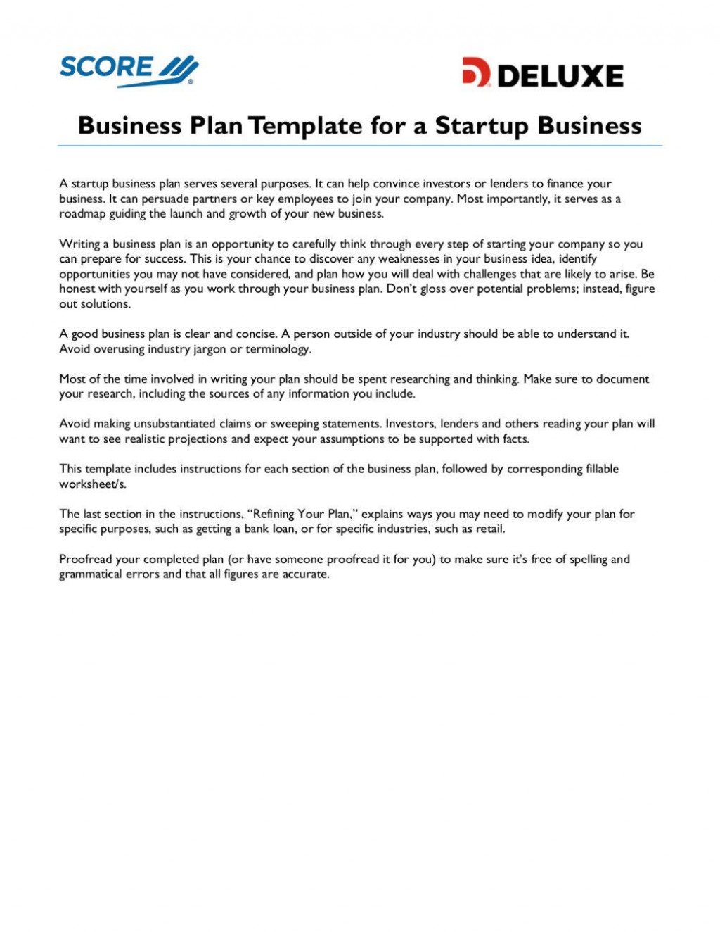008 Surprising Score Deluxe Busines Plan Template High Definition Large