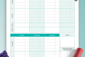 008 Surprising Simple Weekly Budget Template Picture  Planner Personal Printable