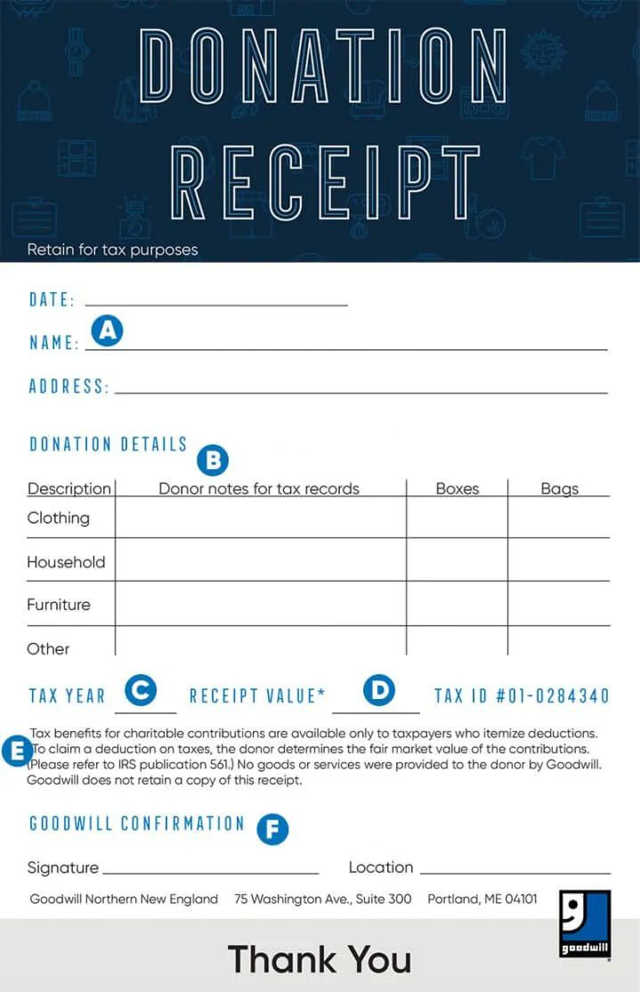 008 Surprising Tax Donation Form Template Design  Ir Charitable Receipt Deductible ExampleFull