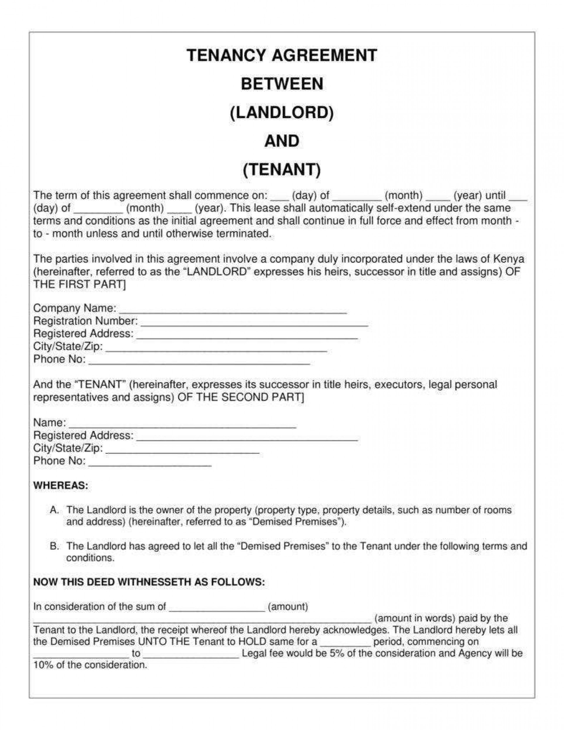 008 Surprising Tenancy Agreement Template Word Free High Def  Document Uk Pdf1920