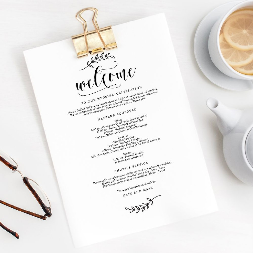 008 Surprising Wedding Welcome Letter Template Free High Def  BagLarge