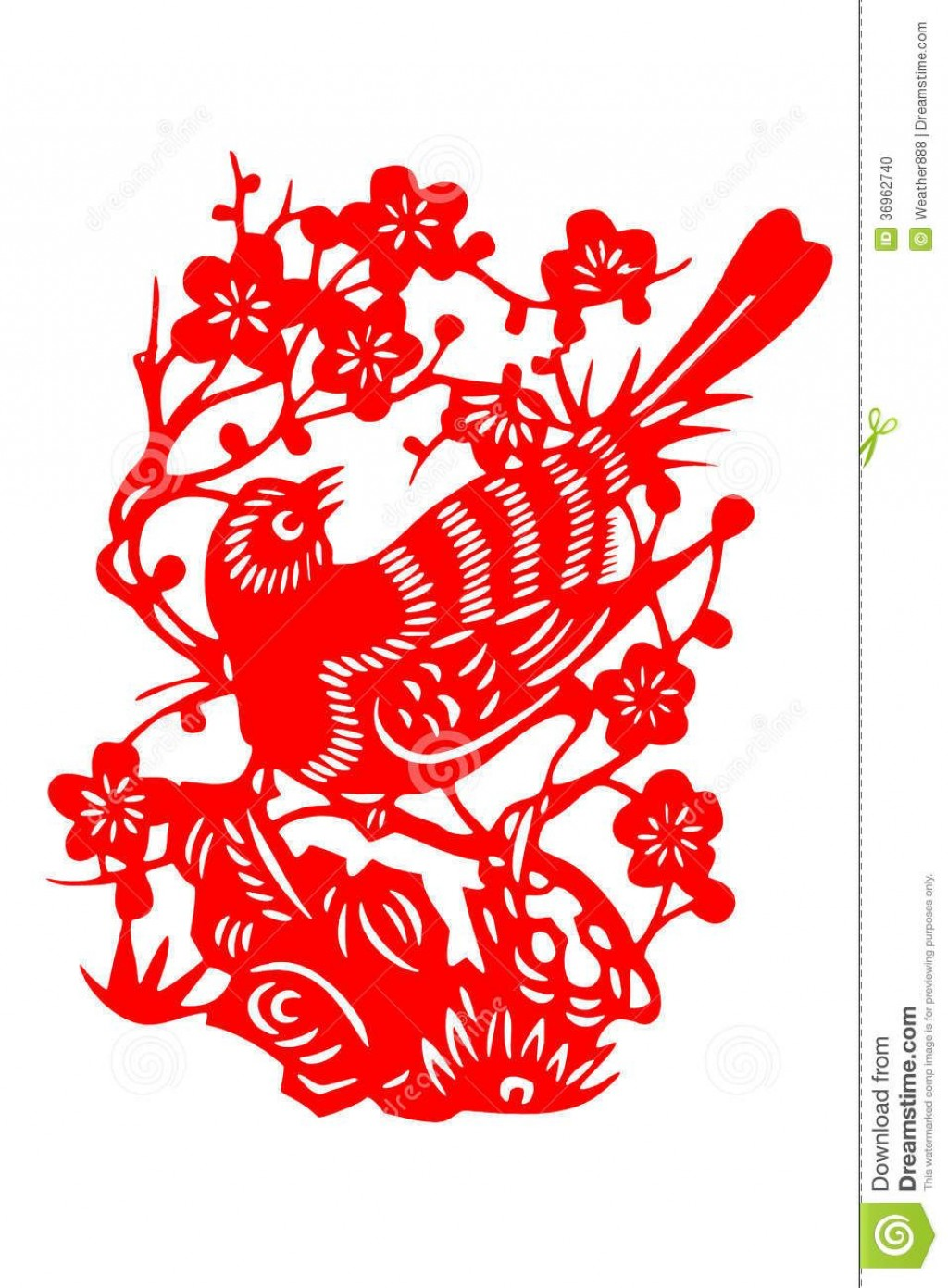 008 Top Chinese Paper Cut Template Concept Large