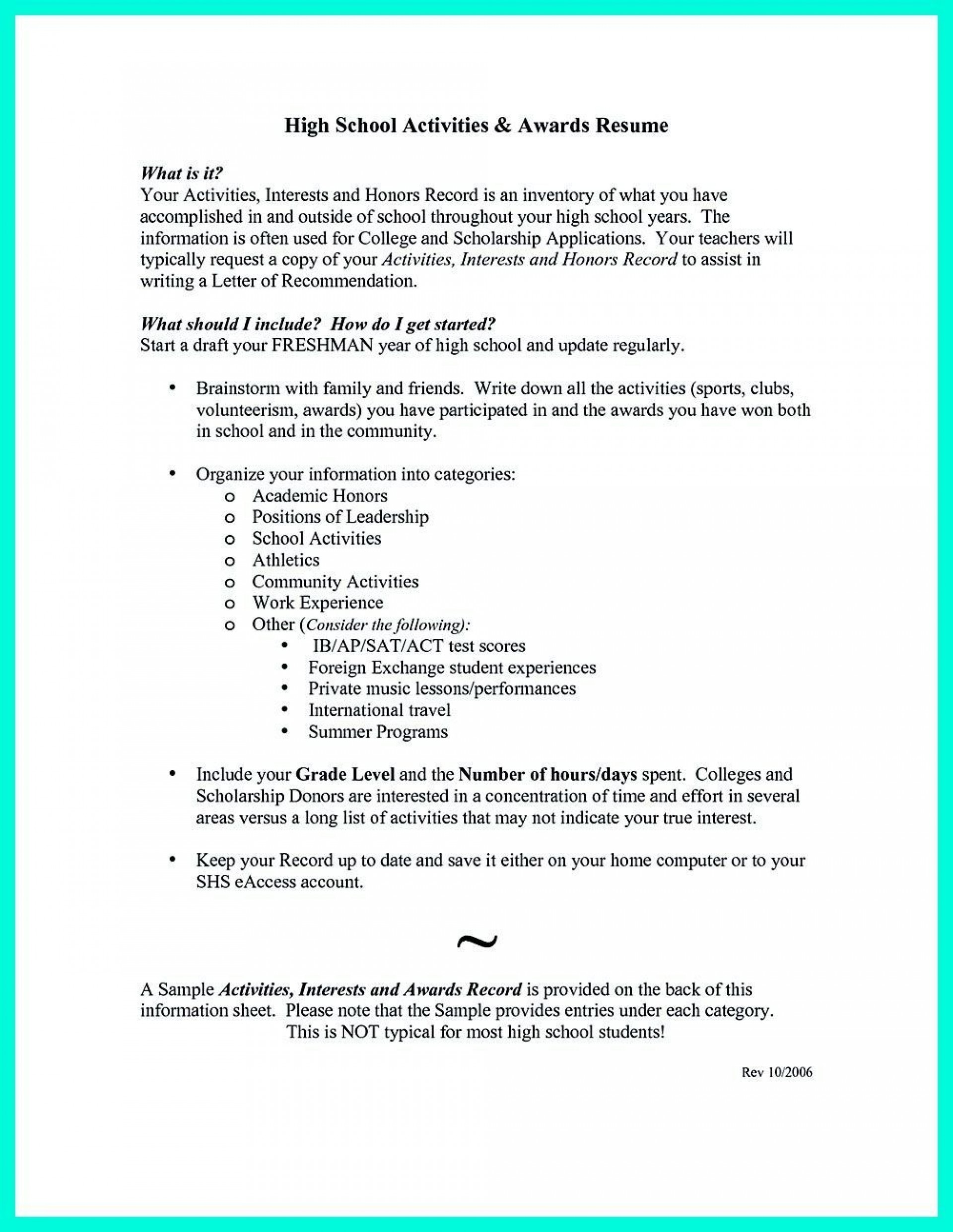 008 Top College Admission Resume Template Sample  Application Microsoft Word Free Cv1920