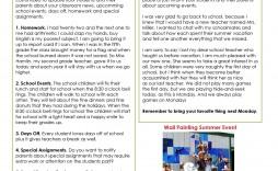 008 Top Elementary School Newsletter Template Concept  Clas Teacher Free Counselor