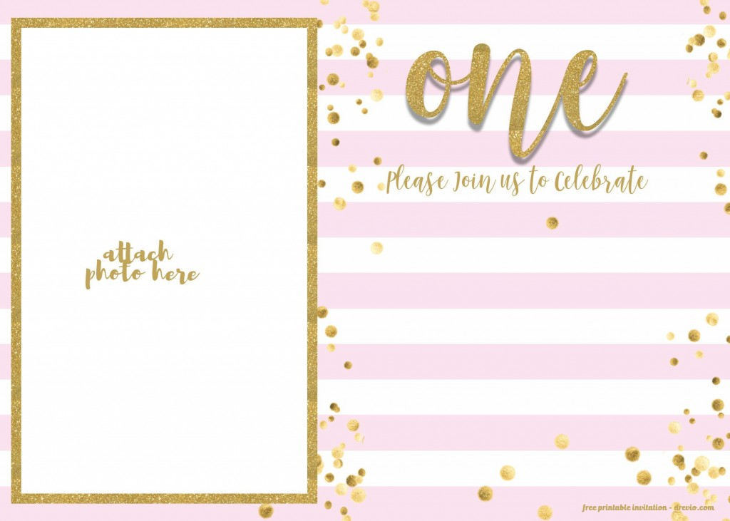 008 Top Free 1st Birthday Invitation Template For Word Picture Large