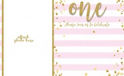 008 Top Free 1st Birthday Invitation Template For Word Picture