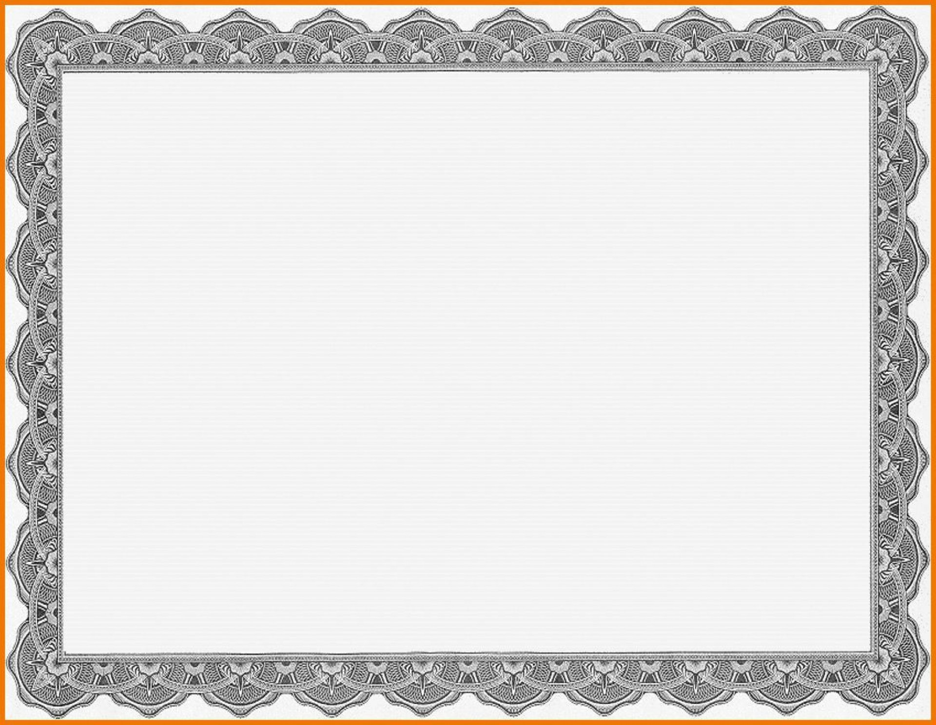 008 Top Free Printable Blank Certificate Template Picture  Templates Gift Of Achievement1920