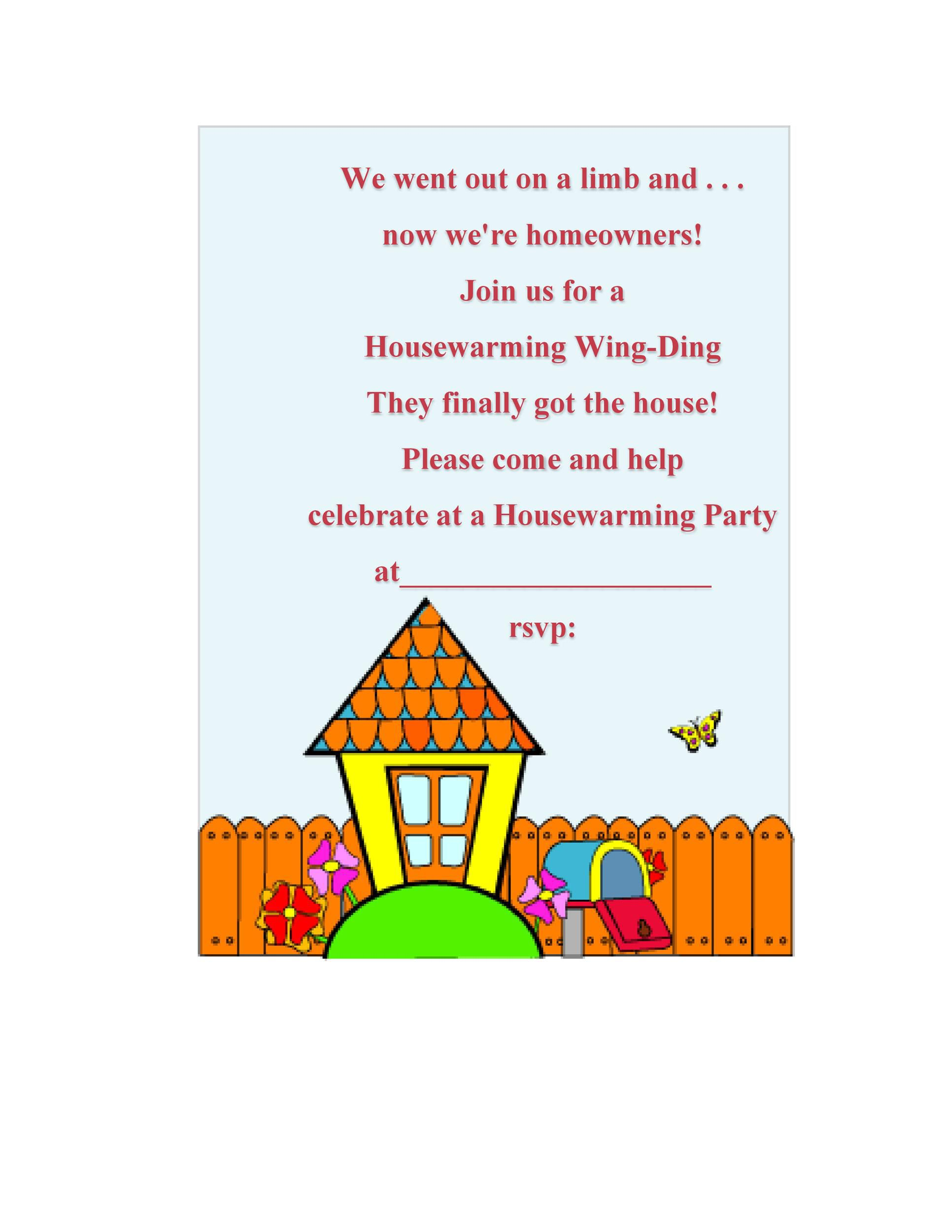 008 Top Housewarming Party Invitation Template Image  Templates Free Download CardFull