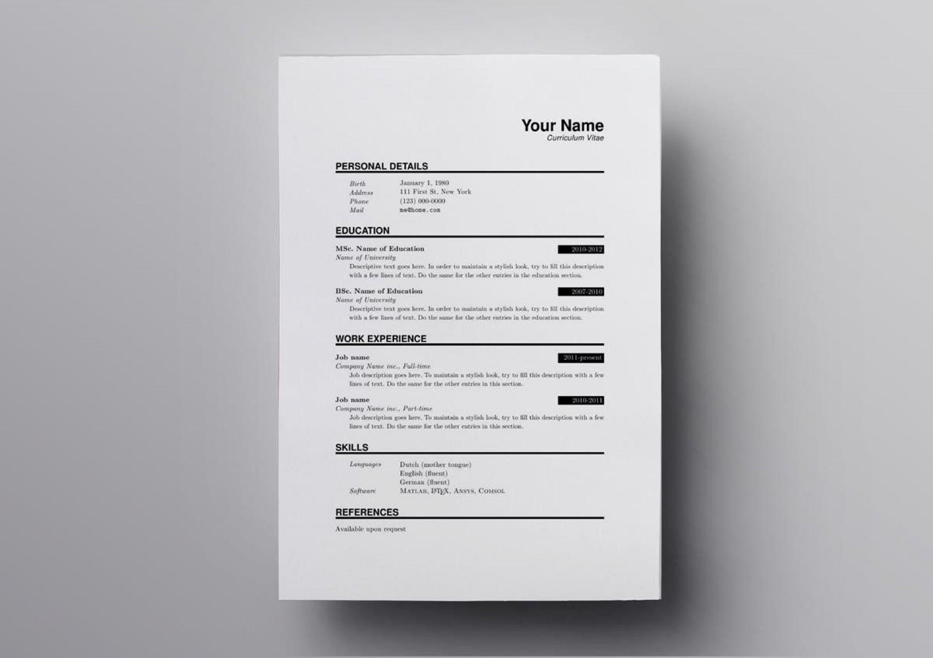 008 Top Latex Resume Template Phd Inspiration  Cv Graduate Student Economic1920