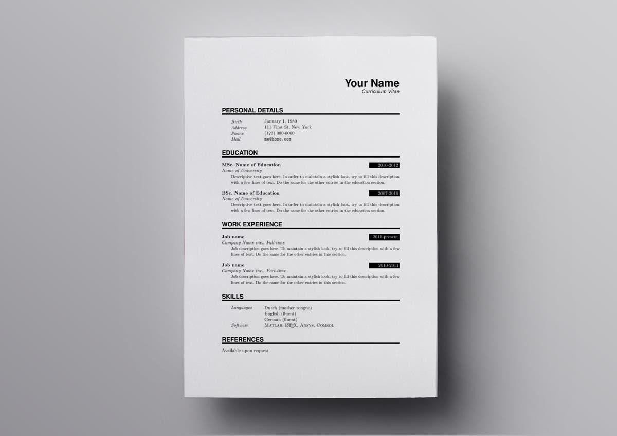 008 Top Latex Resume Template Phd Inspiration  Cv Graduate Student EconomicFull