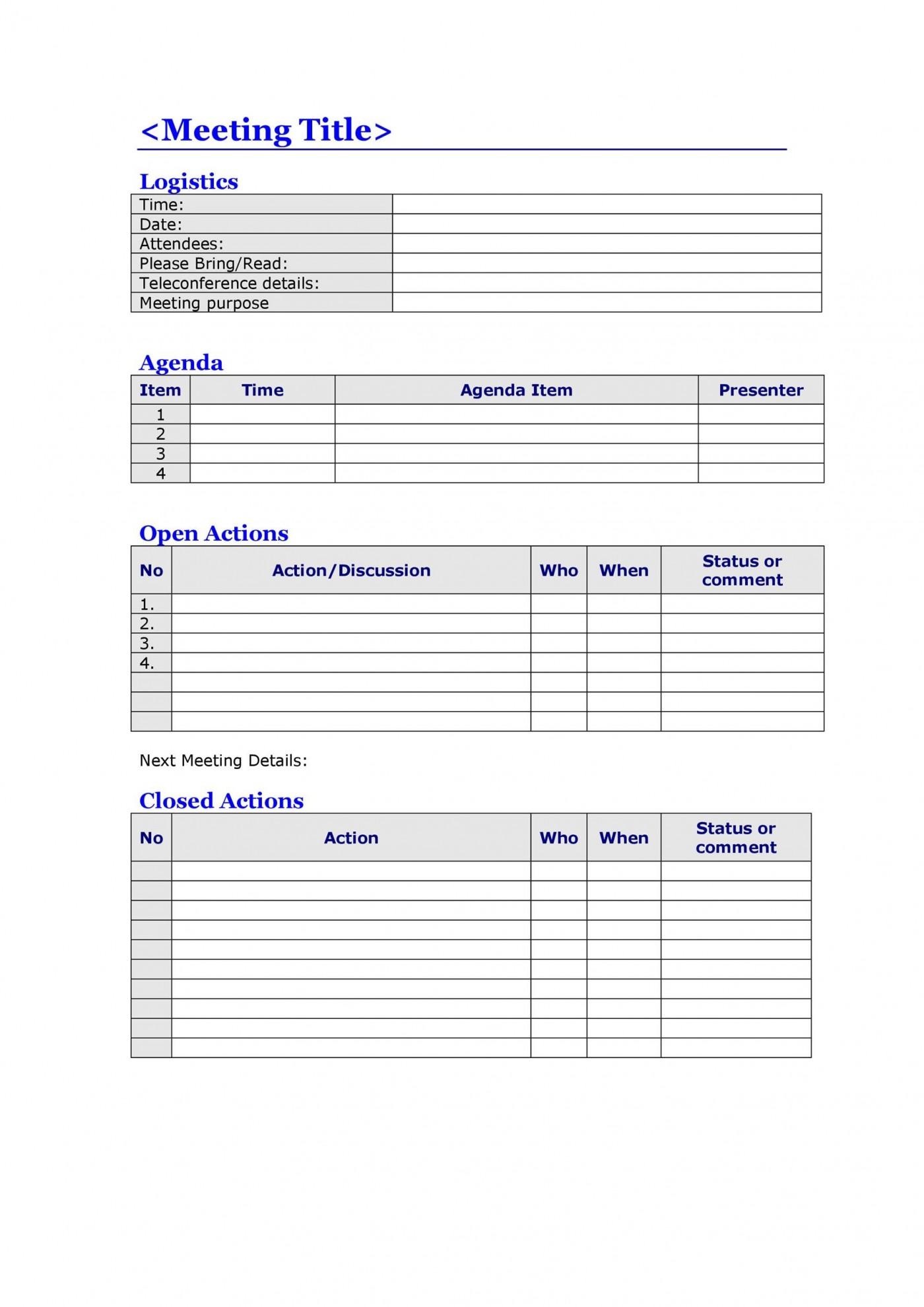 008 Top Meeting Agenda Template Word Image  Microsoft Board 2010 Example1400