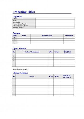 008 Top Meeting Agenda Template Word Image  Microsoft Board 2010 Example320