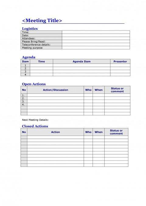 008 Top Meeting Agenda Template Word Image  Microsoft Board 2010 Example480
